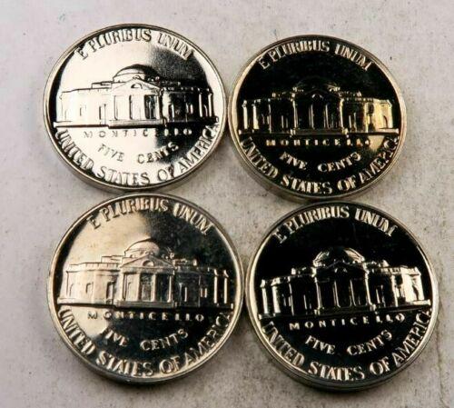 1956+1957+1958+1959 Jefferson Nickel Lot //// Gem Proof *Full Steps* //// 4 Coins