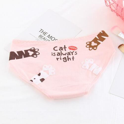 Frau Mädchen Baumwolle Unterwäsche Slip Höschen Atmungsaktiv Unterhose Katze Süß