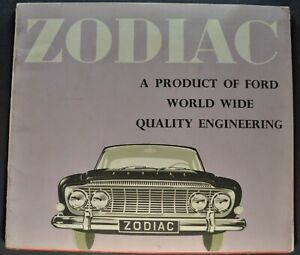 Details about 1962 Ford Zodiac Mark III Catalog Sales Brochure Nice  Original 62