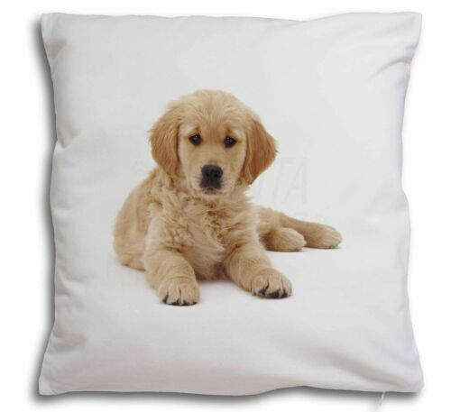 Golden Retriever Puppy Dog Soft Velvet Feel Cushion Cover With Inne AD-GR54-CPW