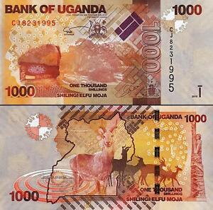 Uganda 2000 2013-2015 Shillings UNC P-50 2,000
