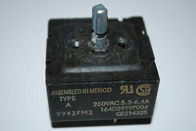GE General Electric Range Burner Switch 164D2999P004 QE214325  Rated at 5.3-6.4A