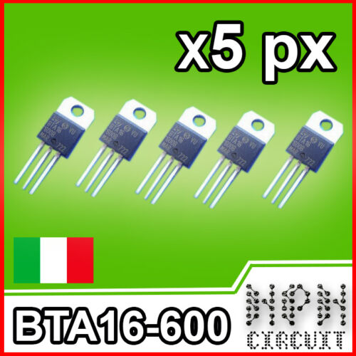 Bta16-600b Triac 600v 16a x5 bta16 Transistors Parts