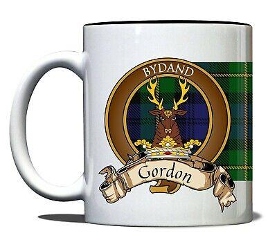 Gordon Scottish Clan Tartan 11oz Mug With Crest And Motto Ebay