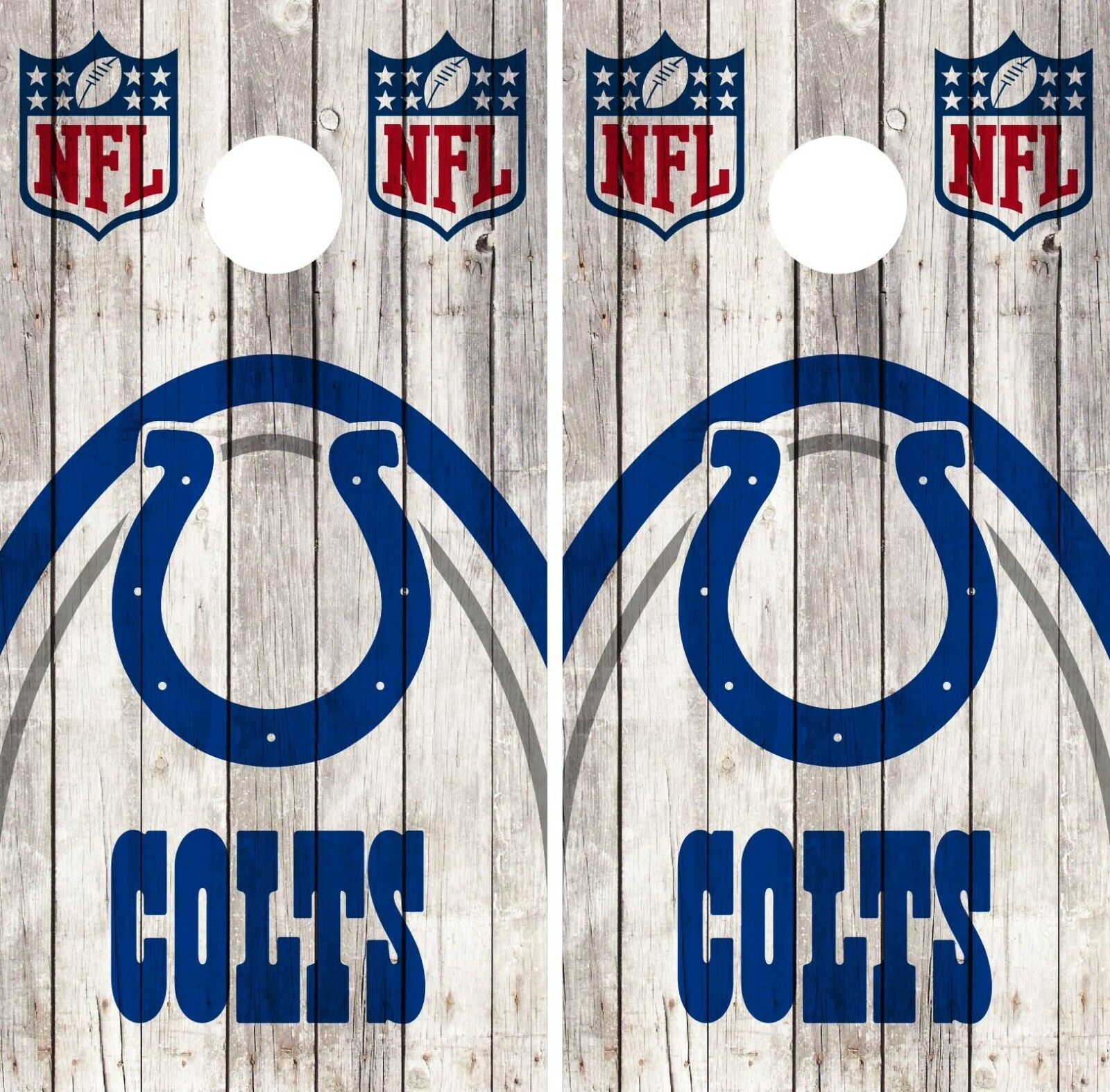 Indianapolis Colts Cornhole Wrap NFL Game Skin Board Set Vinyl Art Decor CO126