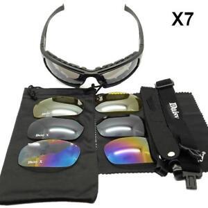Photochromic-Polarise-Daisy-x7-Armee-Lunettes-De-Soleil-4-Lentille-Kit-militaire-Lunettes