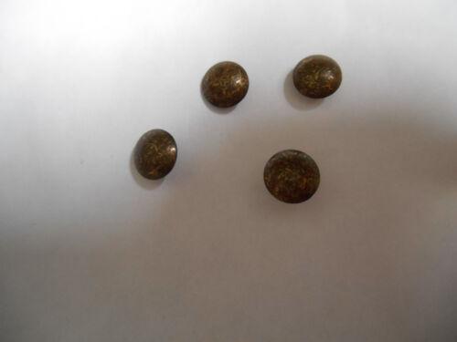 50 Ziernägel altgold gefleckt  7,5 mm Durchmesser