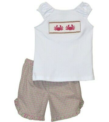 Girls whale ruffle boutique shorts outfit 5 6 7 8 NEW pink beach fish t shirt