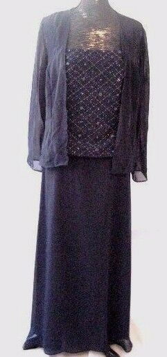 Caterina formal Mother of the bride gown & jacket evening cocktail SZ 12 #38381
