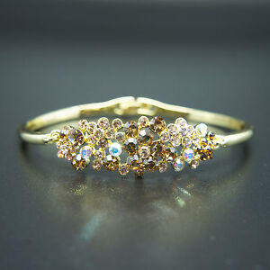 14k-Gold-plated-brilliant-with-Swarovski-crystals-bangle-bracelet