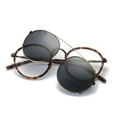 Dinamico Montature Occhiali Da Sole Clip-on Polarizzati Classico Uv In Metallo Moda Rx