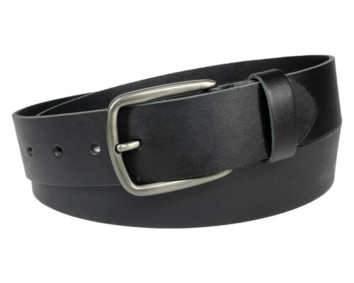 Ledergürtel 100 /% echt Leder Gürtel schwarz Jeansgürtel Herren Damen Vascavi 4cm