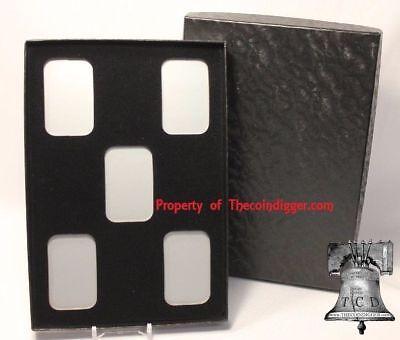 10 Air-tite Coin Holder Capsule Display Card Insert 1oz Silver Bar BLACK Storage