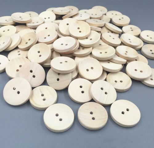 In legno beige 2-fori pulsanti rotondi adatta per cucito album ritagli artigianato 25mm
