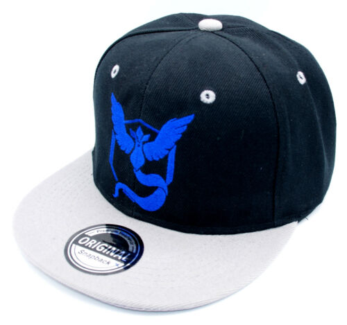 Snapback Kappe Cappy Sommer Cap Mütze Herren für Pokemon Fans Team Blau Grau