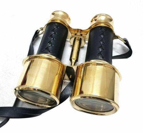 """Messing nautische Fernglas Marine 6 /""""handgefertigte antike Fernglas mit Lederbox"""