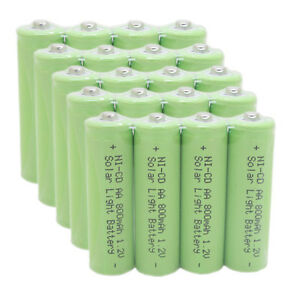 20x Aa 2a Size 1 2v Rechargeable Battery For Garden Solar Path Lights Green Usa