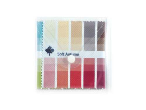 Seasonal Fabric Color Swatch Soft Autumn with 30 x 3 Colors for Image Consulting