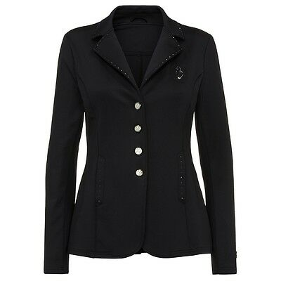 Turnierjacke Starlight Imperial Riding schwarz mit black Strasssteinen Strass