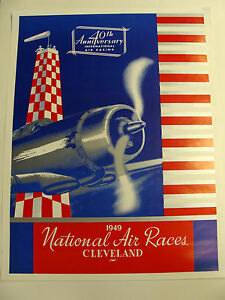 1949 national air races poster cleveland ohio ebay