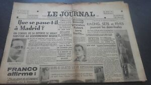 Newspapers The Journal N°16938 Monday 6 Mars 1939 ABE