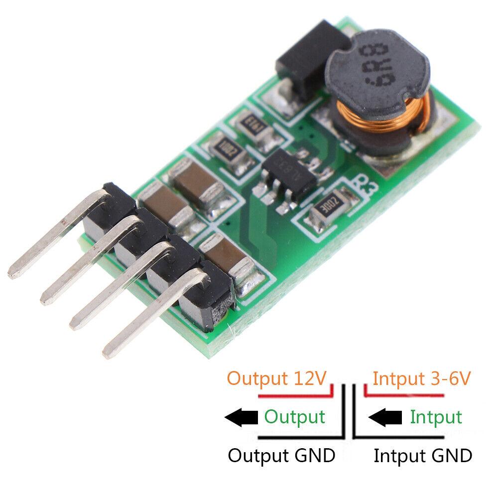 Image 1 - DC 3.3V 3.7V 5V 6V to 12V Step-up Boost Voltage Regulator Converter modul JE