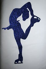 LAYED BACK BLUE GLITTER ICE SKATING  DANCE MOTIF,  JACKET T-SHIRTS