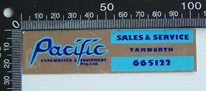VINTAGE-PACIFIC-TYPEWRITER-SALES-amp-SERVICE-TAMWORTH-ADVERTISING-PROMO-STICKER