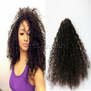 100 afro kinky curly human hair clip in human hair