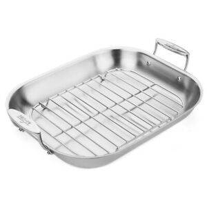 NEW All-Clad Stainless Steel Roasting Pan with Rack ...
