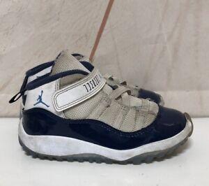 hot sale online 158a3 3178c Details about Jordan Retro 11 Concords Size 9c Toddler Jordans White/Blue