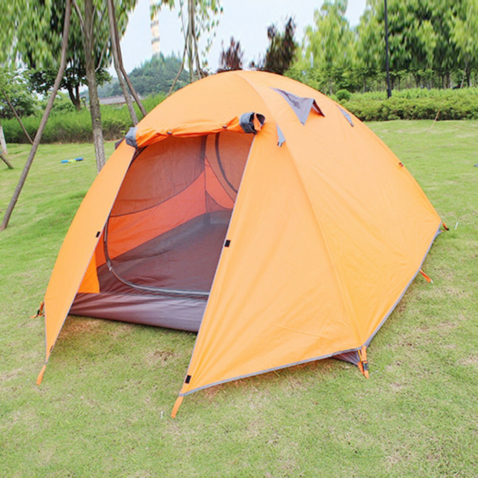 1  3 Doppelschicht Personen Doppelschicht 3 Wasserdichte Doppelschicht Große Campingzelt e384ef