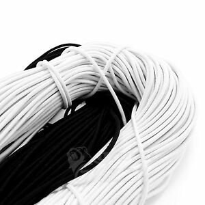 Elastic rope bungee shock cord tie down black or white 2.5 3 6 7 8 10 mm