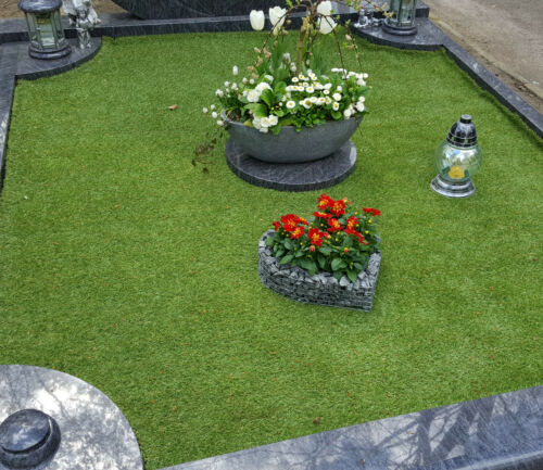 Herz 43x41x6  MIT GRANITSPLITT Pflanzenschale Grabschmuck Grabgestaltung Engel