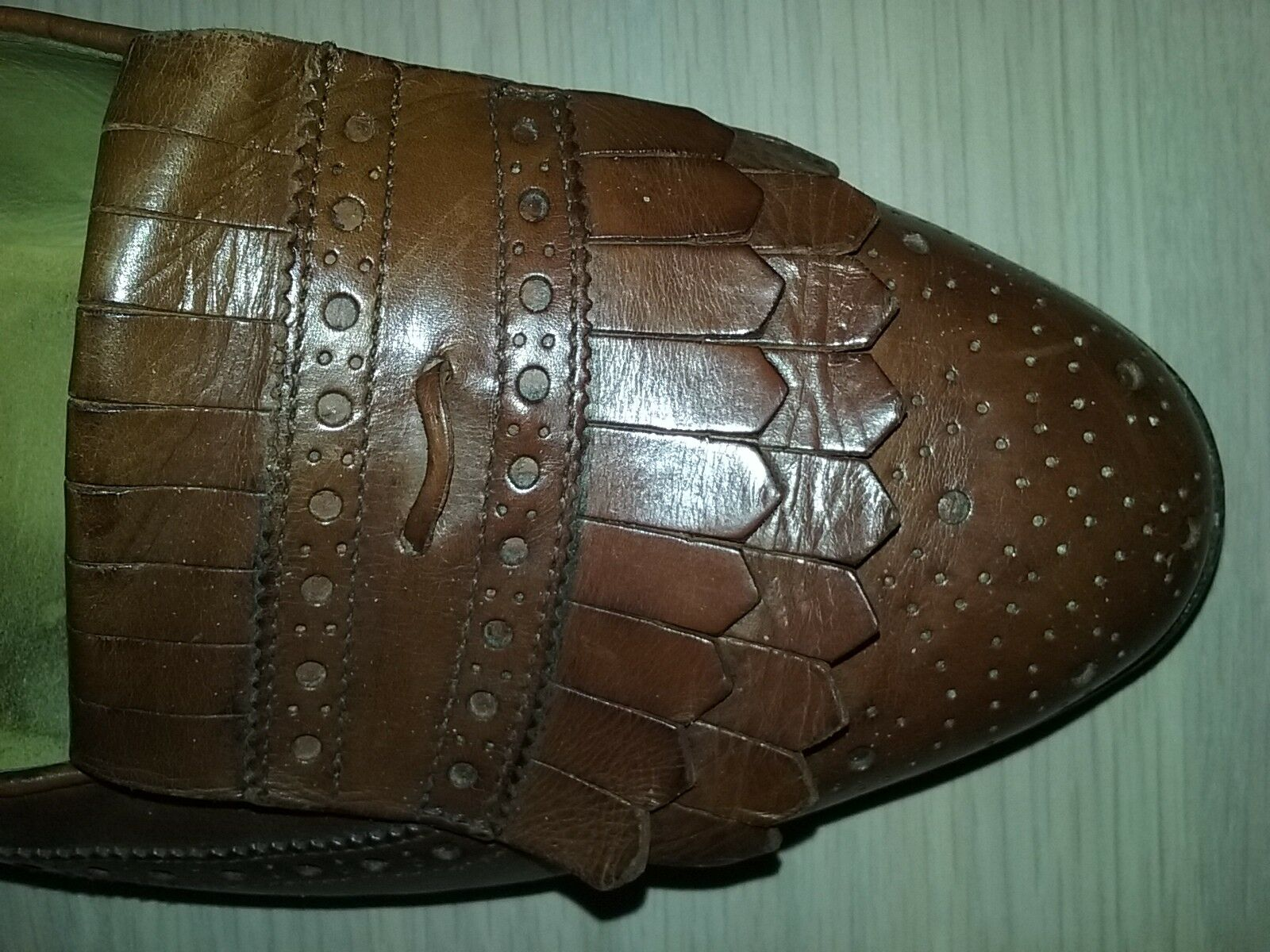 Cole Haan Bragano Brown Kiltie Wingtip Loafers 9 M  Made