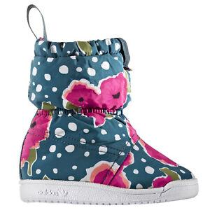 Adidas Floral De Grueso Zapatos Detalles Niños Nieve Invierno Winter Forrado Bebé Botas 3RjL45Aq