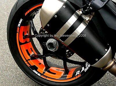 KTM SuperDuke R 1290 Superduke BEAST DUKE wheelsticker Felgenaufkleber decal