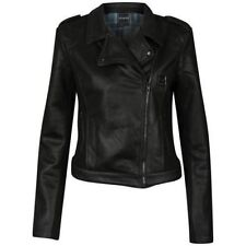 ATTICUS- WOMENS DEATHBED BIKER JACKET LARGE (L NEW) Blink 182 Muse Leather Look