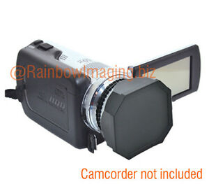 JJC 43mm Lens Hood + Cap for Digital Video DV Camcorder Canon Panasonic Sony