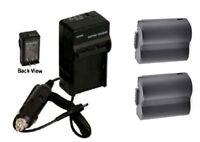 Two 2 Cgr-s006e/1b Dmw-bma7 Batteries + Charger For Panasonic Dmc-fz7 Dmc-fz7k
