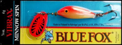 Finland made!! 1//8 oz SUPER RARE VIBRAX MINNOW SPIN VMS 2 GFR color