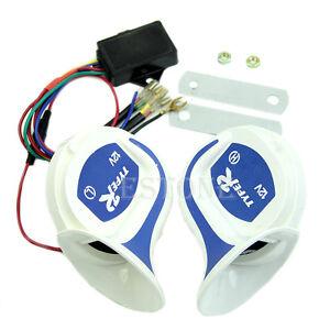 12v digital electric siren loud air snail horn magic 8 sounds car rh ebay com GM Horn Wiring Diagram Kleinn Air Horn Wiring Diagram