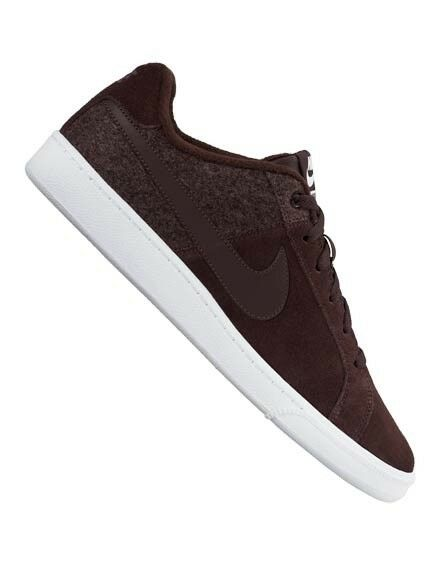 NIKE MENS COURT ROYALE PLUS MAHOGANY SUEDE TRAINERS BRAND NEW