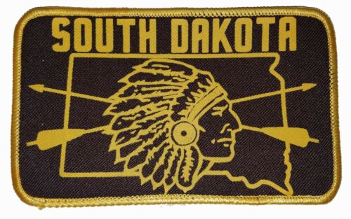 South Dakota Indian Arrows Embroidered Patch 3x5  Iron On