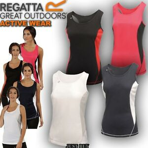 Regatta-Vest-Women-Rio-Sleeveless-Hiking-Fitness-Work-Gym-Sport-Running-Yoga-Top