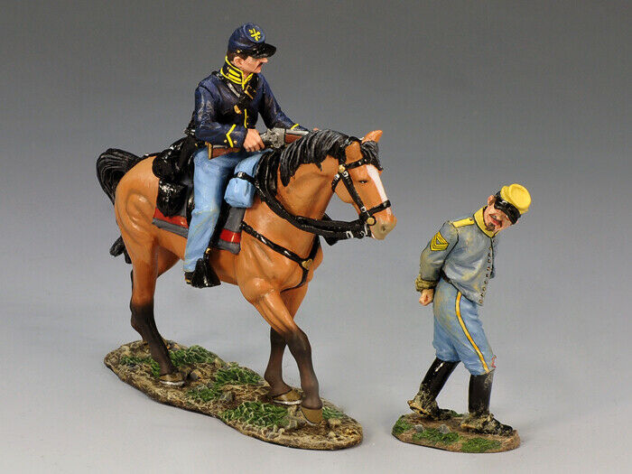 KING & COUNTRY CIVIL WAR CW063 CONFEDERATE PRISONER & UNION ESCORT MIB
