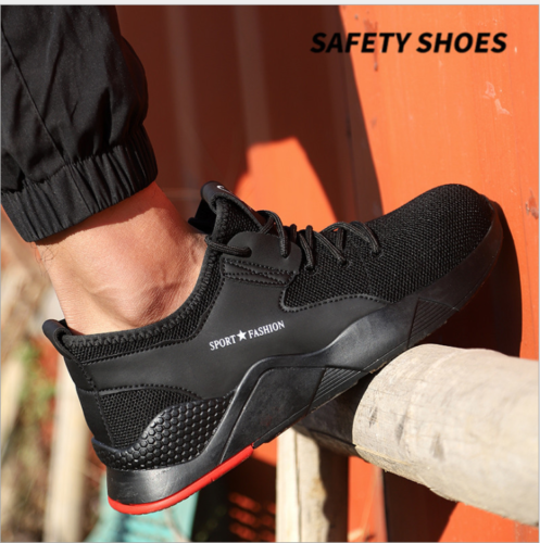 Steel Toe Cap Safety Work Sport Trainers Mens Boot Hiking Lightweight Shoes Size
