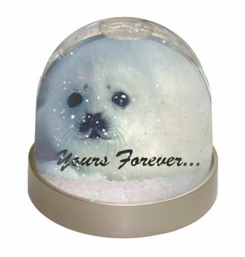 AF-S14GL Snow Seal /'Yours Forever/' Photo Snow Globe Waterball Stocking Filler G