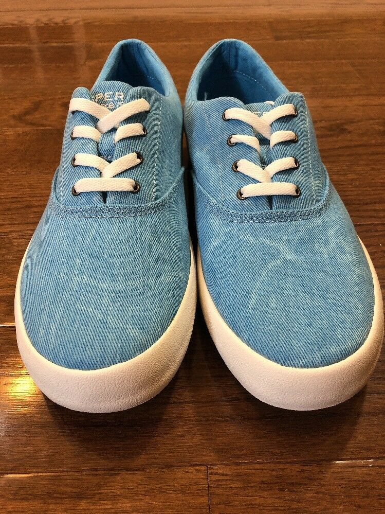 Mens Size 9.5 Sperry Top Sider Casual Shoes Blue Denim STS16113