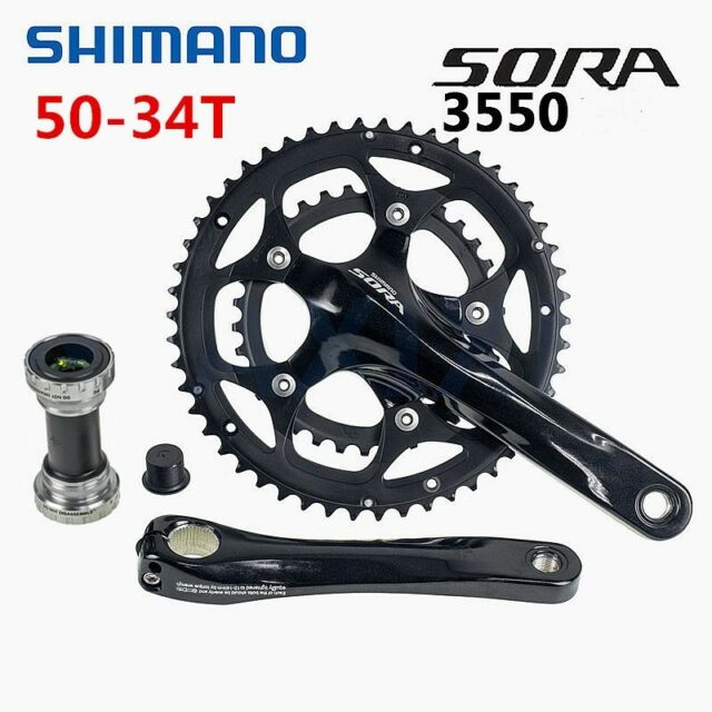 New Shimano Sora FC-3503 Road Bike Crankset 170mm Triple 50//39//30T 9 Speed 3550